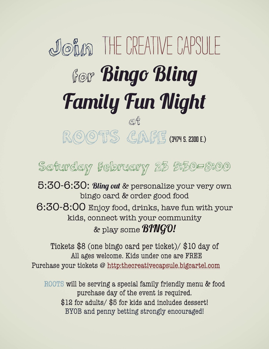 bingo night flyer with color