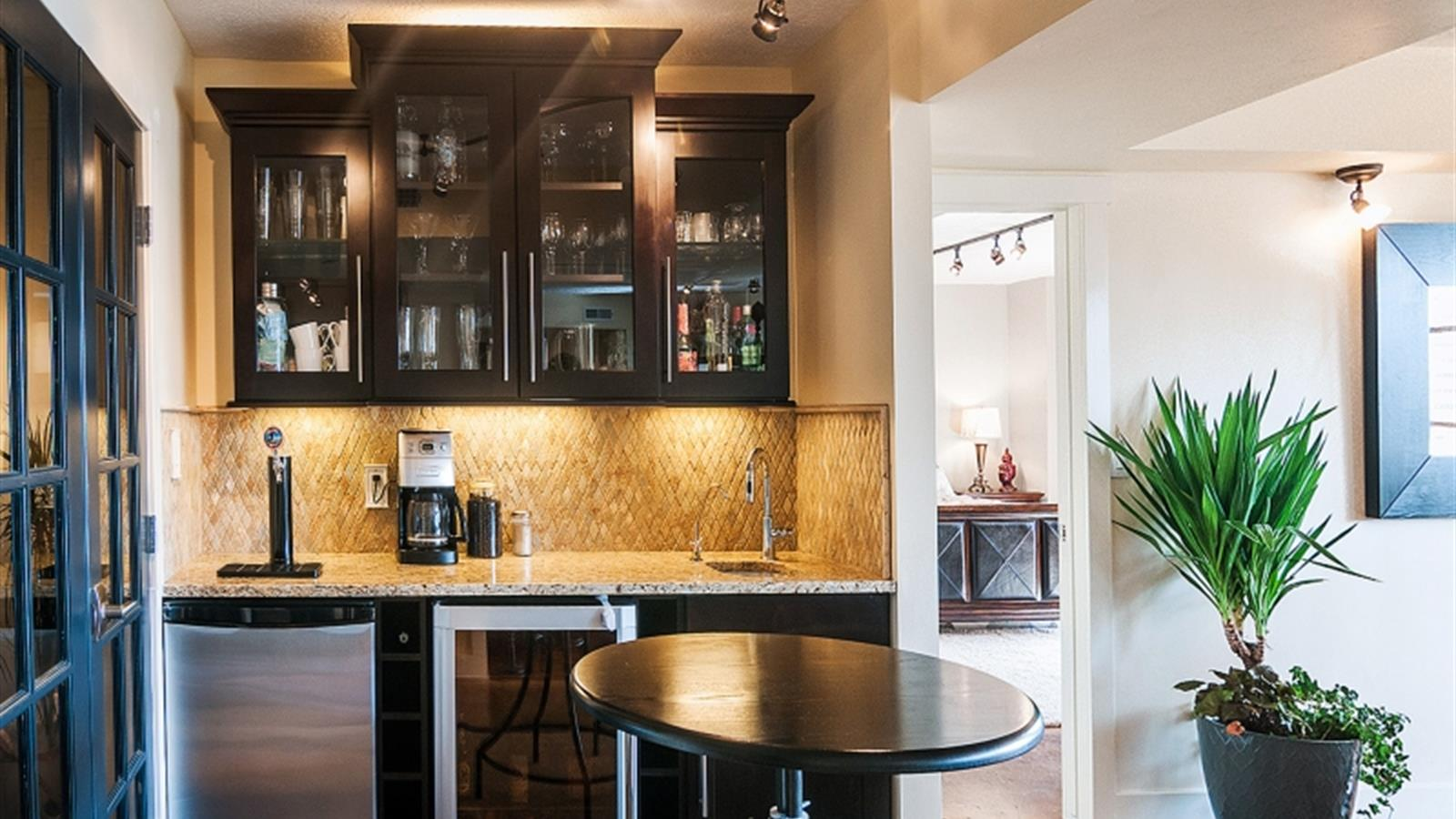 office wet bar. Roomy Master Bath With Two Large Closets, Double Sinks, And Dual Shower Heads. Features Private Office, Wet Bar. Office Bar